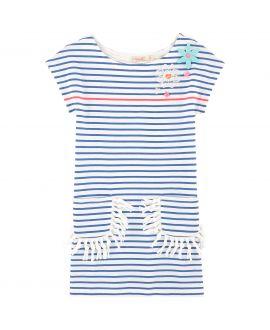 Vestido Niña BILLIEBLUSH Azul Rayas Blancas