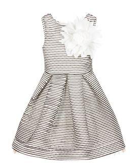 Vestido Niña MISS GRANT Rayas Falda Plisada