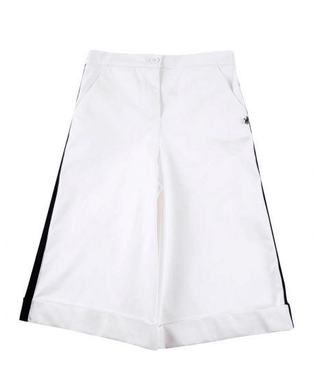 Pantalon Niña L:U L:U Blanco Raya Negra