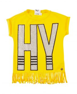Camiseta Niña SO TWEE Amarillo HY Strass
