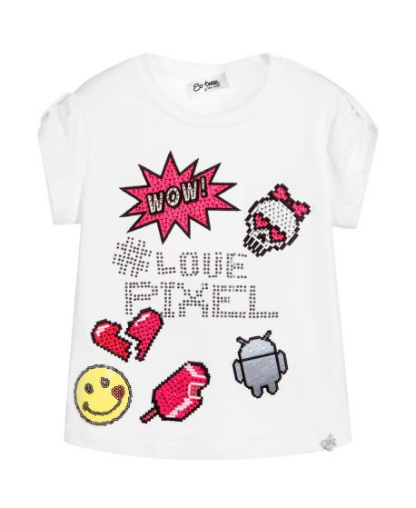 Camiseta Niña SO TWEE Love Pixel Strass