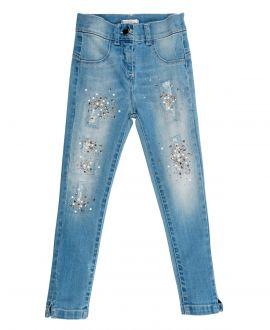 Pantalon Vaquero Niña MISS GRANT Detalles Dorados