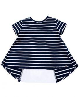 Camiseta Niña L:U L:UMarino Rayas Blancas