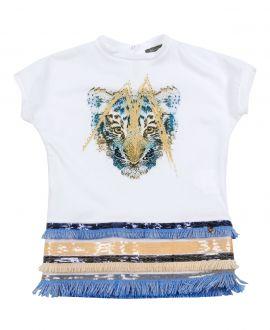 Vestido Niña MICROBE Tigre Flecos
