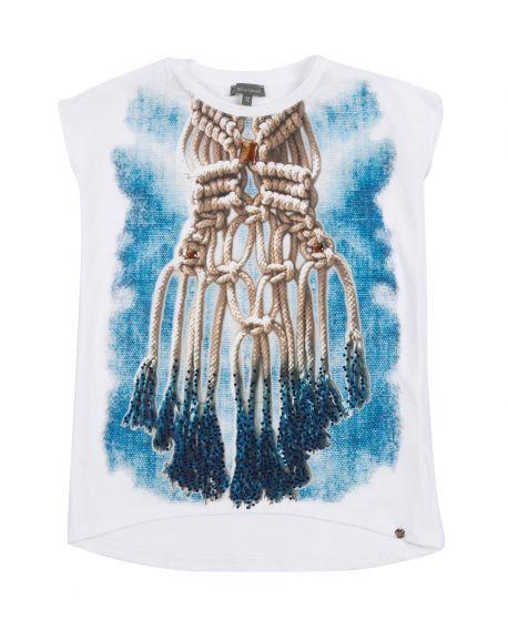 Camiseta Niña MISS GRANT Impresión Collar Cuerdas