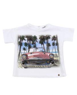 Camiseta Niña MICROBE Playa Coche (4-7A)