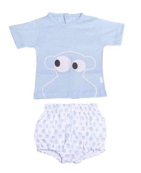 Pijama Bebe Niño BABY TOUS Azul Face