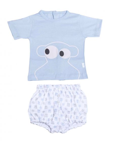 Pijama Bebe Niño BABY TOUS Azul Face - Ro Infantil 31866bdc1835