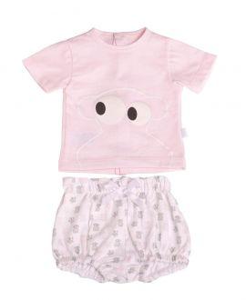 Pijama Bebe Niña BABY TOUS Rosa Face