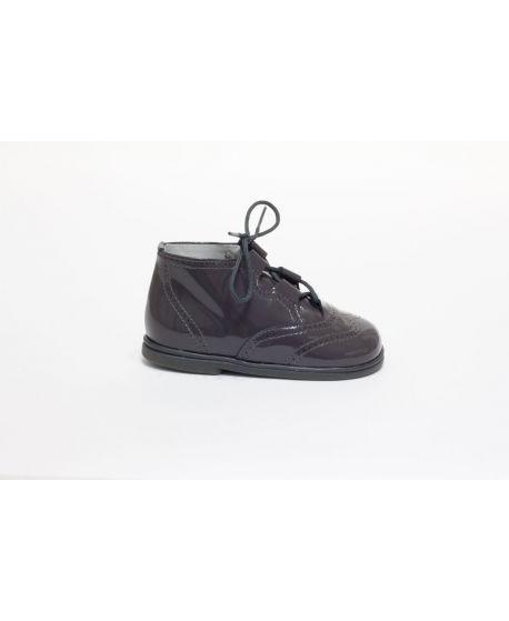 Zapato de charol gris oscuro Eli