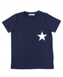 Camiseta Niño MONCLER Marino Estrella