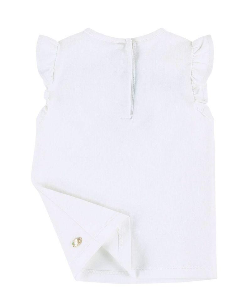 52ee04f8f639d Camiseta Bebe Niña TARTINE ET CHOCOLAT Blanca Bordado Perlas - Ro ...