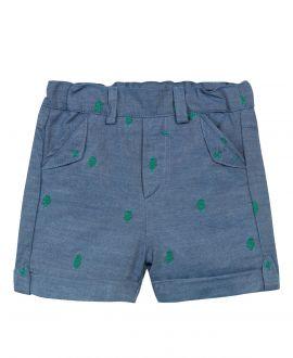 Pantalon Corto Niño TARTINE ET CHOCOLAT Azul Cáctus Bordados