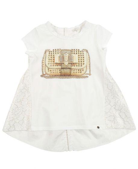 Camiseta Niña MISS GRANT Bolso Perlas