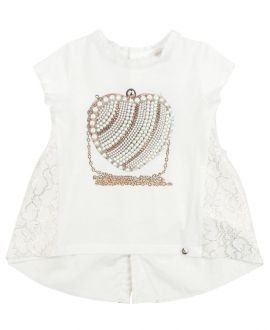 Camiseta Niña MISS GRANT Corazon Perlas