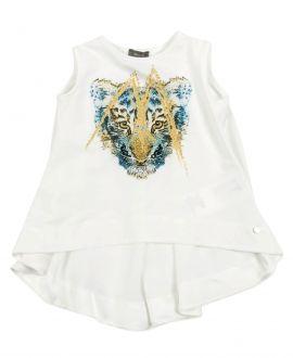 Camiseta Niña MICROBE Tigre Sin Mangas