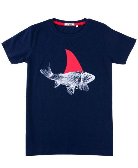 Camiseta Niño AYGEY Marino Pez