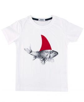 Camiseta Niño AYGEY Blanca Pez