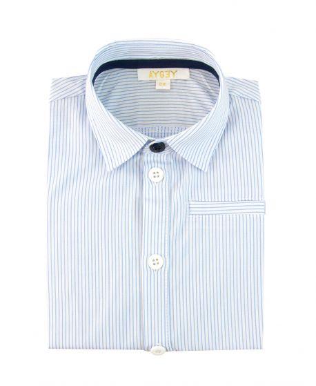Camisa Niño AYGEY Azul Rayas