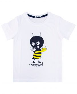 Camiseta Niño AYGEY Blanca Hurry Up