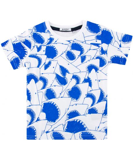 Camiseta Niño AYGEY Blanca Tiburones