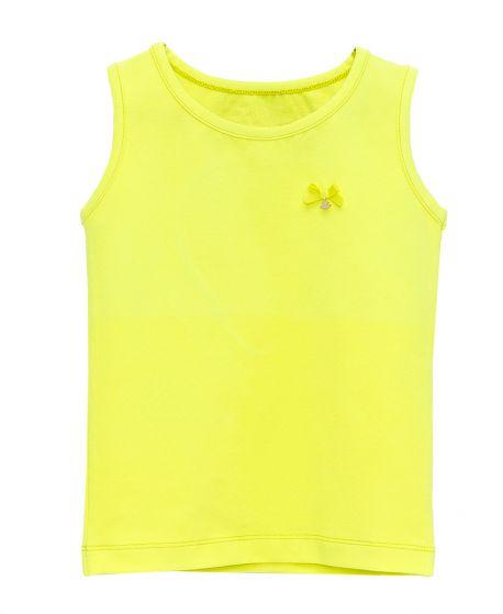 Camiseta Niña CASILDA Y JIMENA Amarillo Flúor Corazon