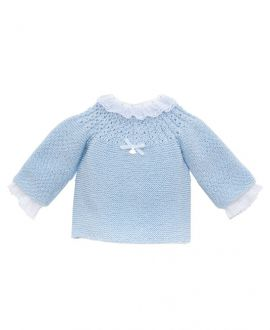 Jersey Canesú Bebé CASILDA Y JIMENA Azul Algodón Egipcio