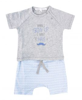 Conjunto Bebe Niño MESSAGE IN THE BOTTLE Gris/Azul