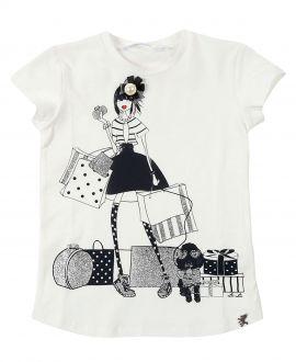 Camiseta Niña L:U L:U Blanca Shopping