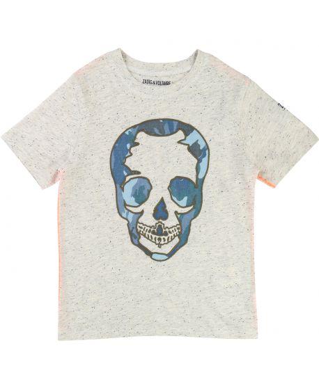 Camiseta Niño ZADIG & VOLTAIRE Calavera Azul