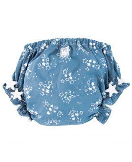 Cubre Pañal Bebe AL AGUA PATOS Estrellas Azul