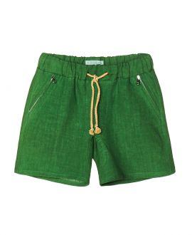 Pantalon Lino Verde NANOS Niño Cordones