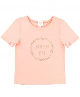 Camiseta Niña CARREMENT BEAU Albaricoque Logo