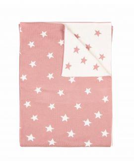 Manta Algodón Rosa NANOS Estrellas