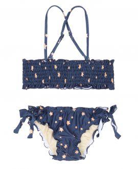 Bikini Lycra Marino NANOS Niña Estrellas