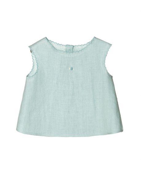 Blusa Lino Azul NANOS Bebe