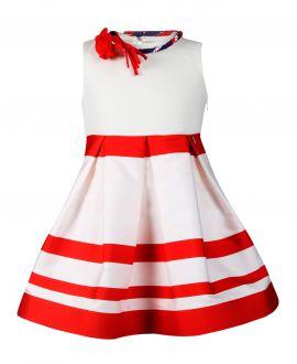 Vestido Niña L:U L:U Rayas Rojas