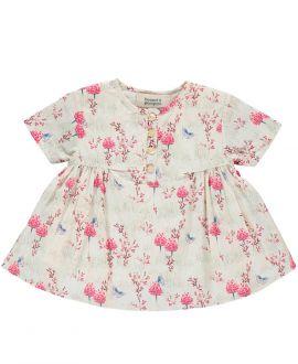 Vestido Bebe Niña BONNET A POMPON Estampado Bouquet