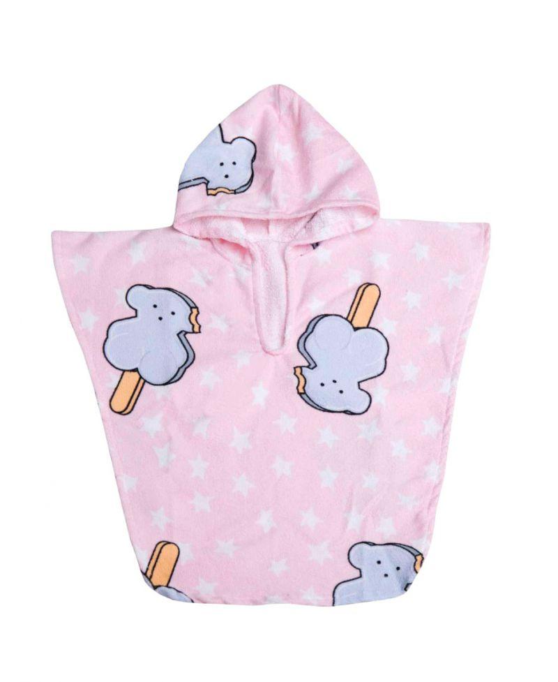 poncho playa baby tous rosa ice cream ro infantil