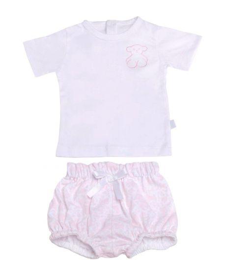 Pijama Dos Piezas Bebe BABY TOUS Kaos Rosa