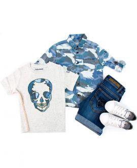 Camisa Niño ZADIG&VOLTAIRE Camuflaje Azul