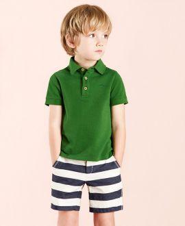 Conjunto Niño NANOS Polo Verde Pantalon Marino