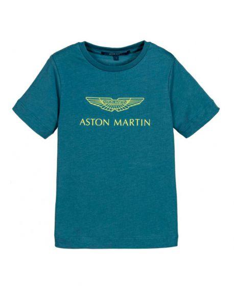 Camiseta Niño ASTON MARTIN Logo Amarillo