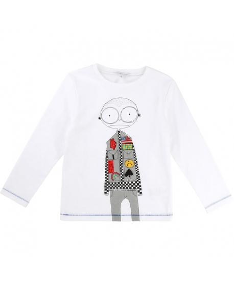 Camiseta LITTLE MARC JACOBS Niño Blanca Dibujo Parches