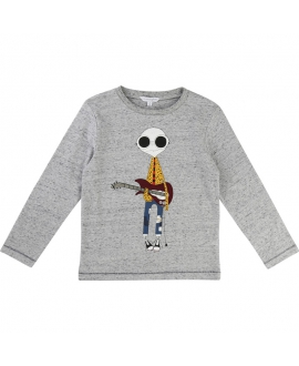 Camiseta LITTLE MARC JACOBS Niño Blanca Dibujo Parches