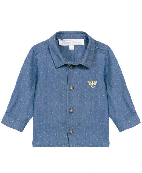 Camisa Niño TARTINE ET CHOCOLAT Azul Con Lunares