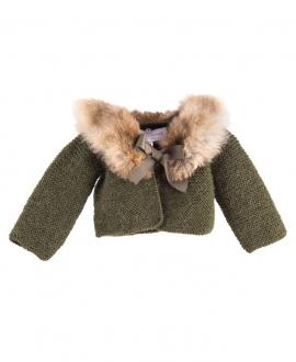 Bolero Bebe Niña CASILDA Y JIMENA Alpaca Verde Camuflaje