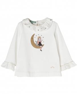 Camiseta Crudo NANOS Niña Luna