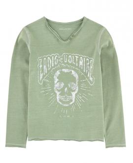 Camiseta niño ZADIG & VOLTAIRE Caqui Calavera