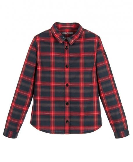 Camisa Niño ZADIG & VOLTAIRE Cuadros Roja